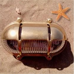 Ορειχάλκινο Φωτιστικό Χελώνα με Σκιάδιο. ART BR435-03 Brass