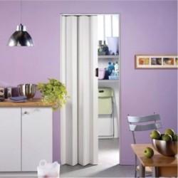 Πτυσσόμενη πλαστική πόρτα λευκή, Πλάτος από 12 cm έως 71 cm, Ύψος έως 223 cm