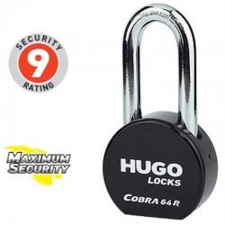 Λουκέτο υψηλής ασφάλειας Hugo locks cobra 64 R. Μακρύλαιμο
