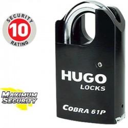 Λουκέτο ατσάλινου χιτωνίου με πλαϊνή προστασία HUGO LOCKS Cobra 61P